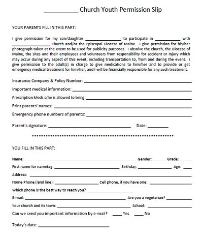 printable permission slips for field trips