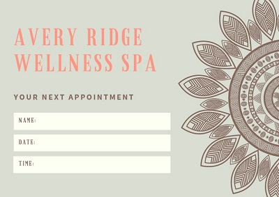 appointment cards templates