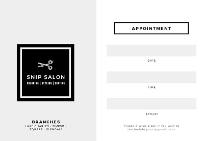 Appointment Cards Templates Free