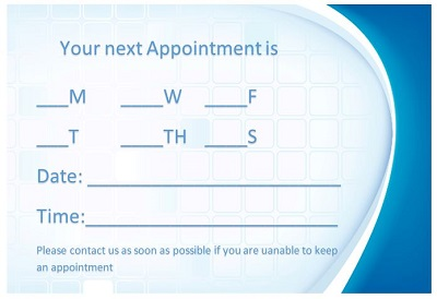 appointment card designs