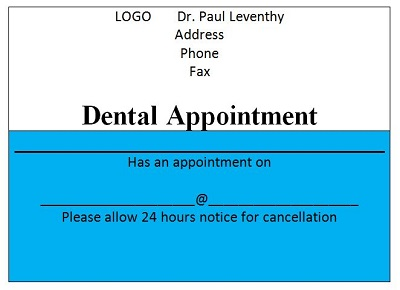 appointment business cards template