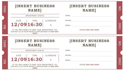 printable appointment cards