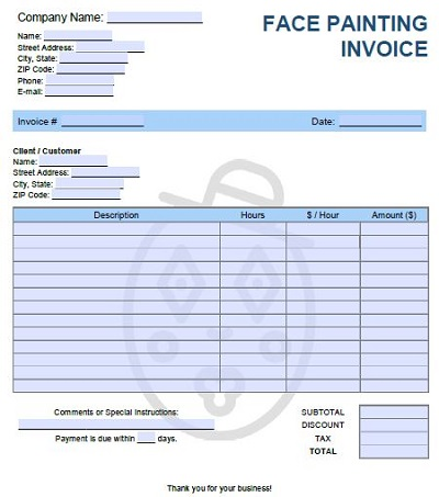 artwork invoice