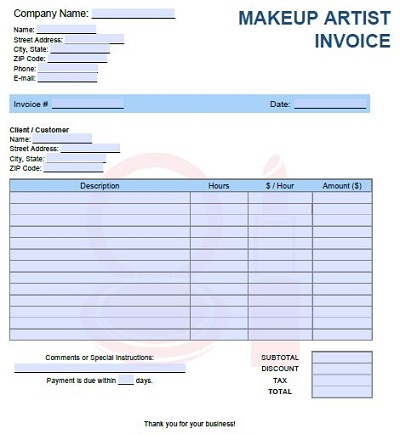 paypal invoices for artists