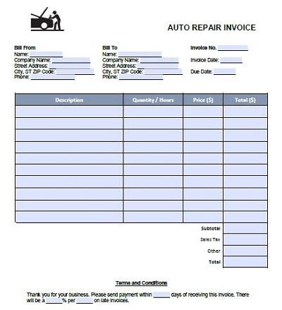 Auto Repair Templates