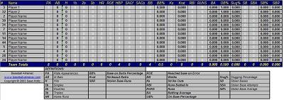 baseball stats excel spreadsheet template