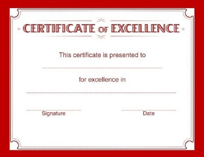 above and beyond certificate