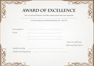 google docs award template