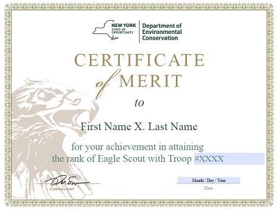 Certificate of Merit templates