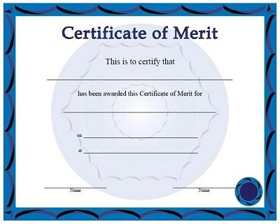letter of merit