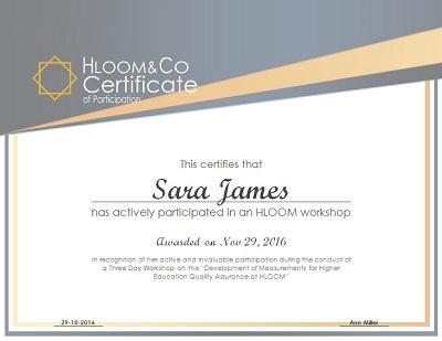 participant certificate
