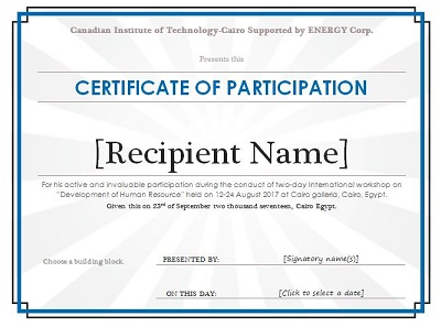 microsoft word certificate template