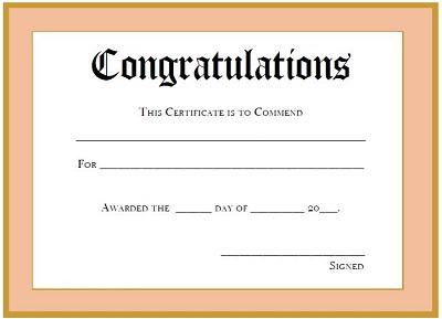 congratulations certificate templates free