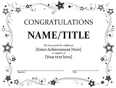 blank congratulations certificate