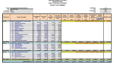 free construction estimate template