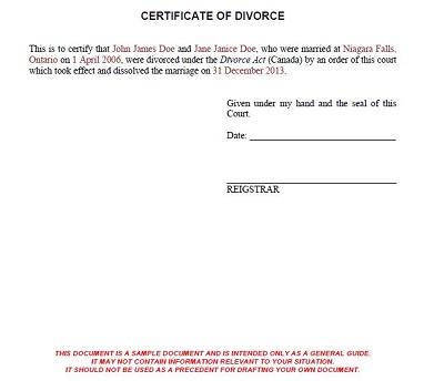 fake divorce certificate maker