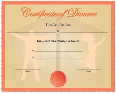 divorce paper template