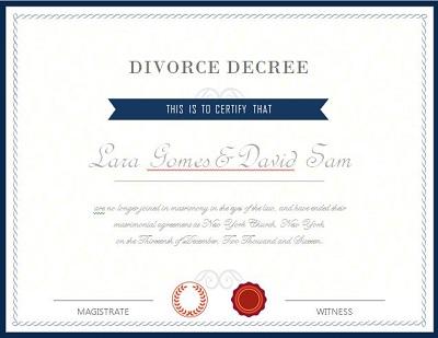 Divorce Certificate Templates