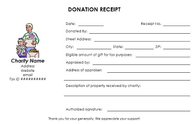 example of donation receipt