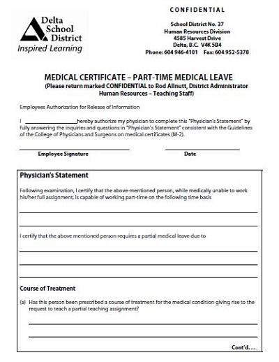 fake medical certificate