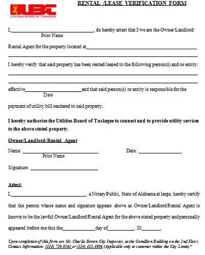 rental reference form