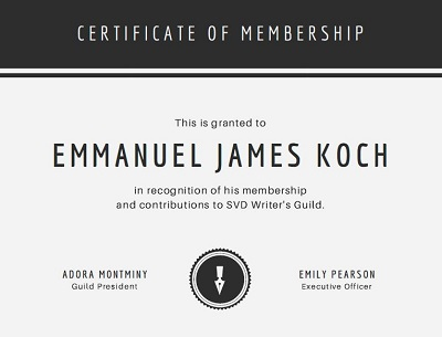 custom membership certificates