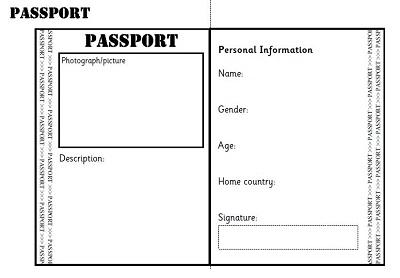 free passport template