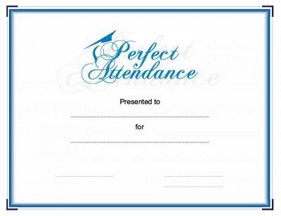 20 Free Perfect Attendance Award Templates Template Republic