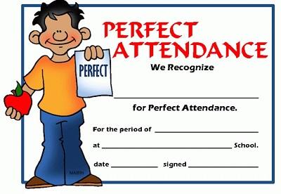 perfect attendance certificate template