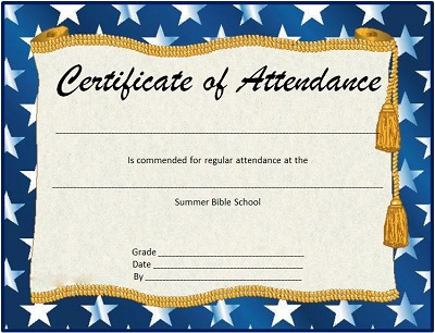 perfect attendance certificate for employees