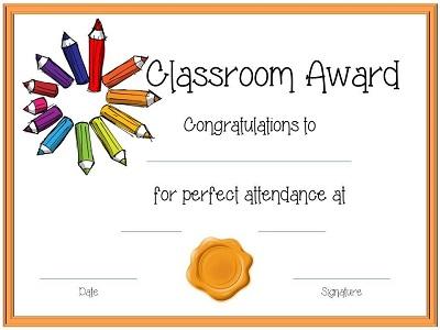 perfect attendance award ideas