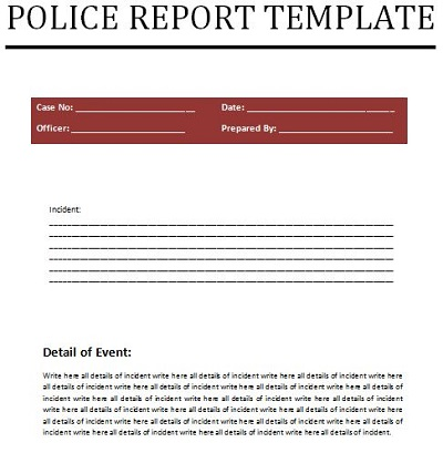 police case file template