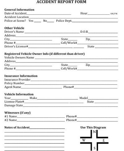 arrest report template