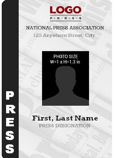 press pass template free
