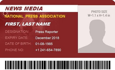 press credential templates