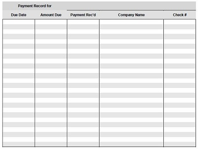 rent collection spreadsheet