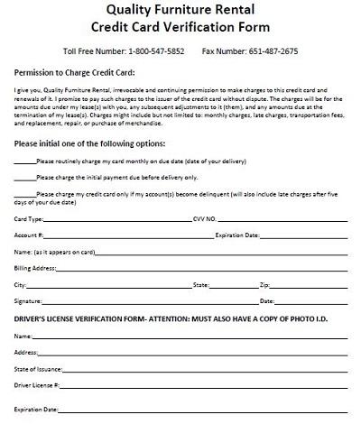 tenant verification forms