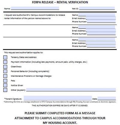 rent verification letter
