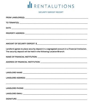 security deposit agreement format