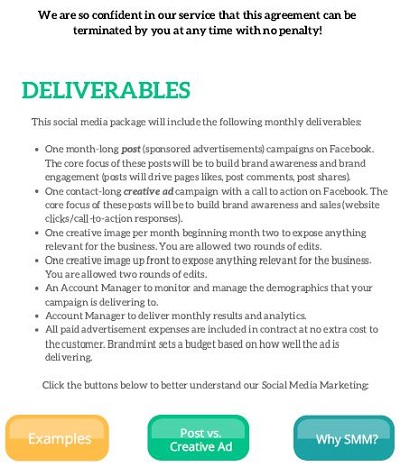social media management contract template