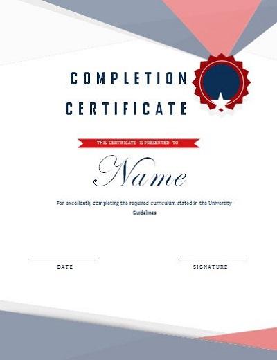 work completion certificate sample letter